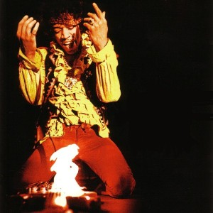 Jimi Hendrix set guitar on fire