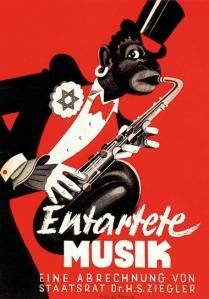 כרזה כנגד המוזיקה המנוונת