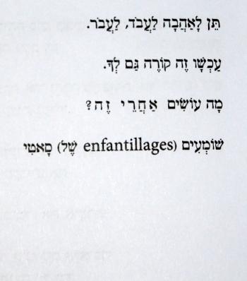"""(מתוך: """"כמה זמן עוד נשאר איננה שאלה אלא דלת"""", ישראל אלירז)"""